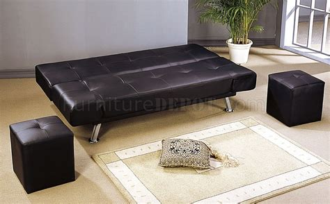 black leather sofa with chrome legs black leather like finish contemporary sofa bed w chrome legs