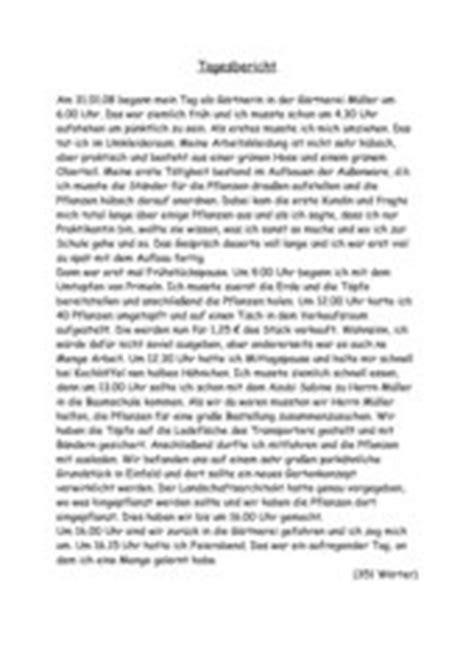 Tagesbericht Schreiben Muster 4teachers Lehrproben Unterrichtsentw 252 Rfe Und