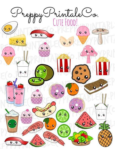 imagenes random kawaii kawaii cute food stickers printable pdf perfect for