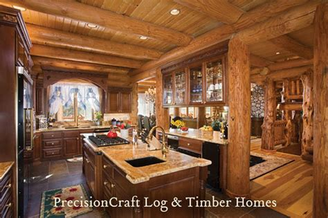 Kitchen Ideas Log Homes Utah Custom Milled Log Home Kitchen Precisioncraft Log H