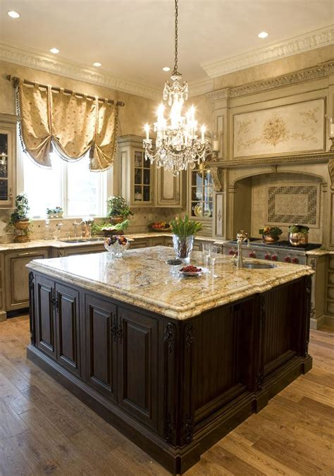 Kitchen Lighting Ideas Over Island by Custom Kitchen Island Provides Key Focal Point Habersham