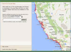 california tsunami map tsunamizone org get ready california