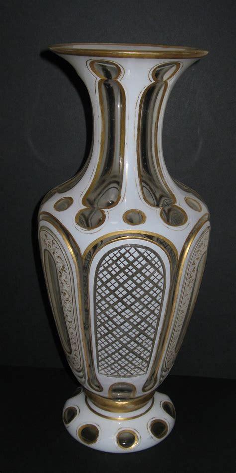 Victorian Glass Vase Victorian Overlay Glass Vase Circa 1880 257795