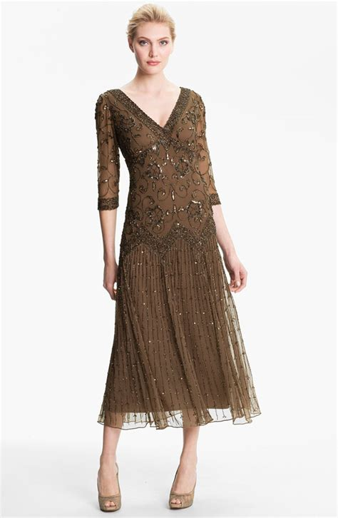pisarro beaded dress pisarro nights beaded mesh dress pisarro nights dresses