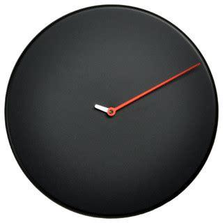 Black Bathroom Clocks Less Black Wall Clock Contemporary Wall Clocks By