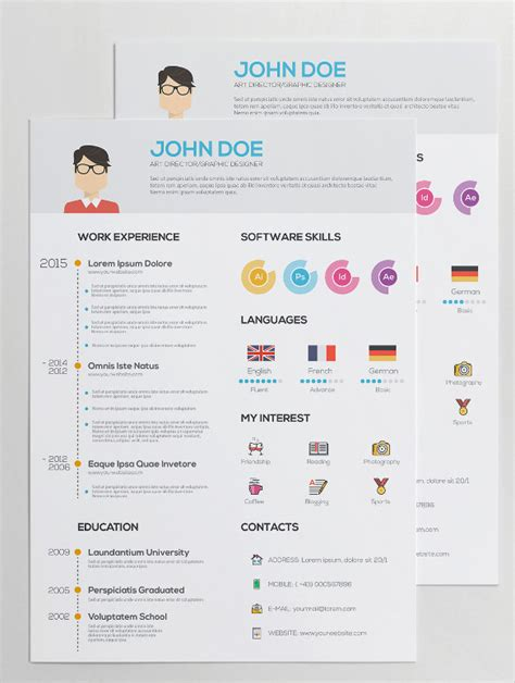 Best Professional Resume Templates Free by 35 Infographic Resume Templates Free Sample Example