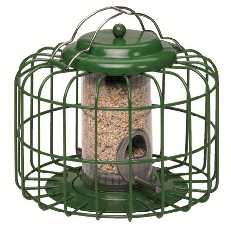 Nuttery Bird Feeders the nuttery squirrel predator proof mini seed feeder green feedem