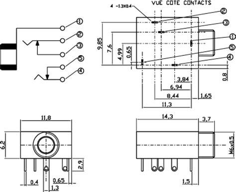 Socket Mini Stereo 3 5 Pcb socket 3 5mm stereo p mount pcb