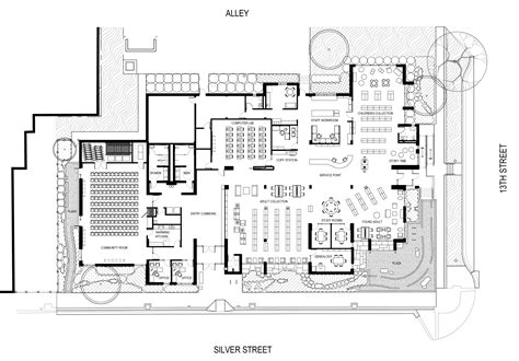 library floor plan ashland community resource center plans ashland public