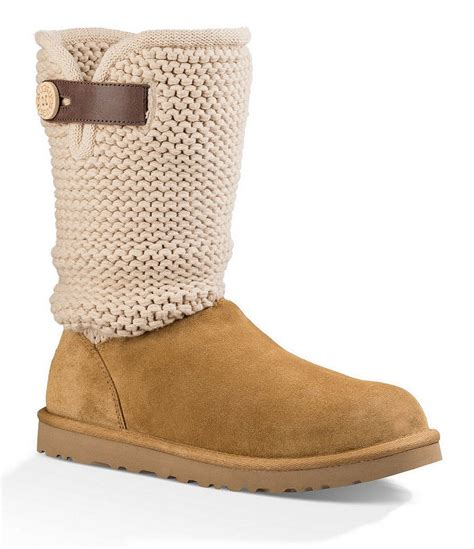 knit top boots ugg 174 shaina knit top leather boots dillards