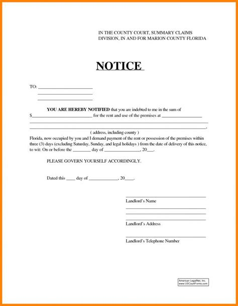 3 Day Eviction Notice Ideal Vistalist Co Montana Eviction Notice Template