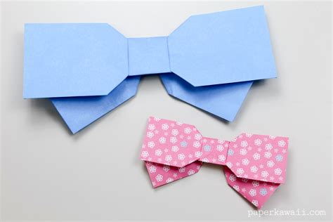 origami ribbon origami bow layered paper kawaii