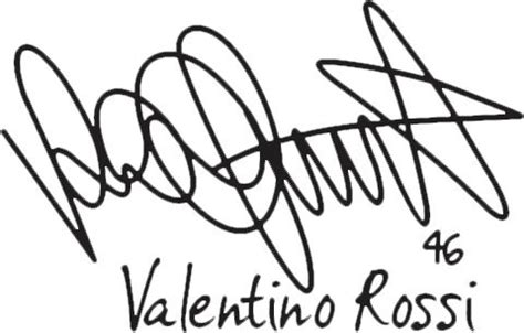 Poster Pop Kayu Valentino Vr46 png autograph