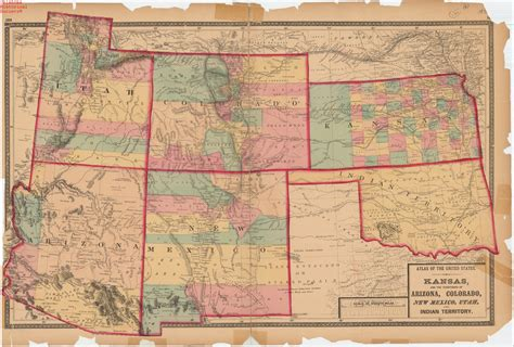 map of new mexico and colorado map of kansas and the territories of colorado new mexico