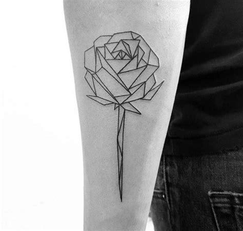 geometric rose tattoo geometric flower s 248 k design ink drawing