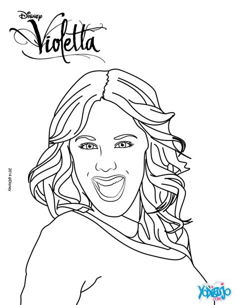 imagenes para pintar de violetta dibujos para colorear violetta sonriendo es hellokids com