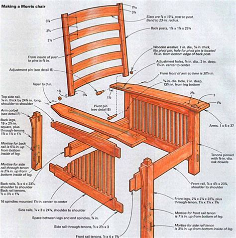 mission style chair plans craftsman style comfort in a morris chair finewoodworking