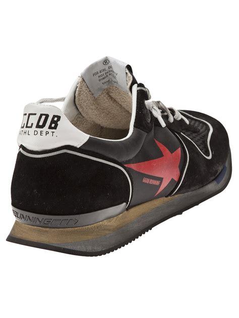 looking running shoes golden goose deluxe brand worn look running shoes in black