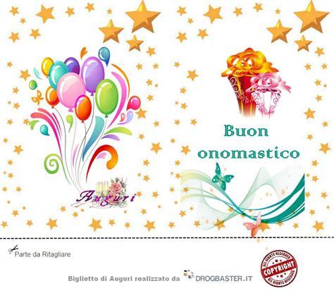 biglietti di scarica gratis biglietti auguri festa onomastico