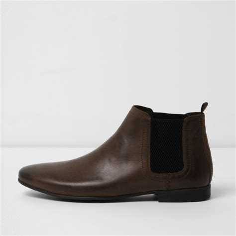 boots shoes brown leather chelsea boots boots shoes boots