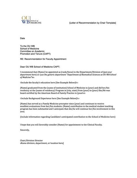 7 format recommendation letter receipts template