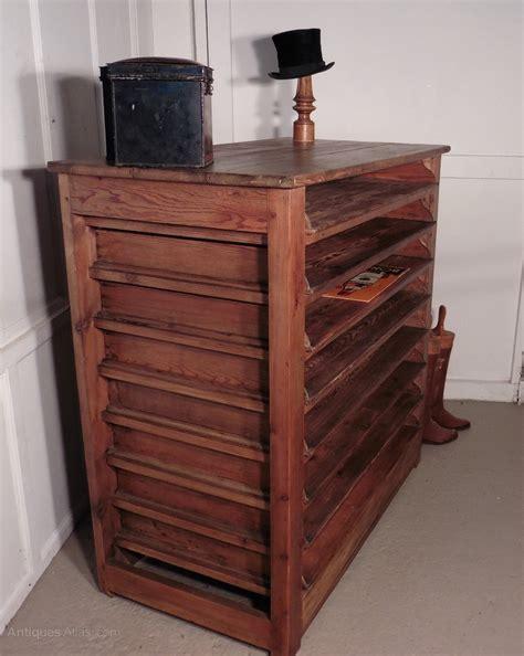 Pine Storage Cabinet Artist S Plan Chest Pine Storage Cabinet Antiques Atlas