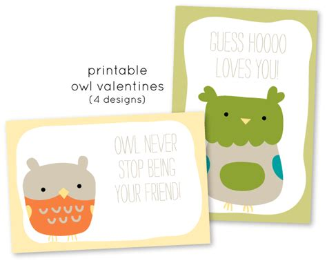 printable owl card be different act normal baked with love valentines