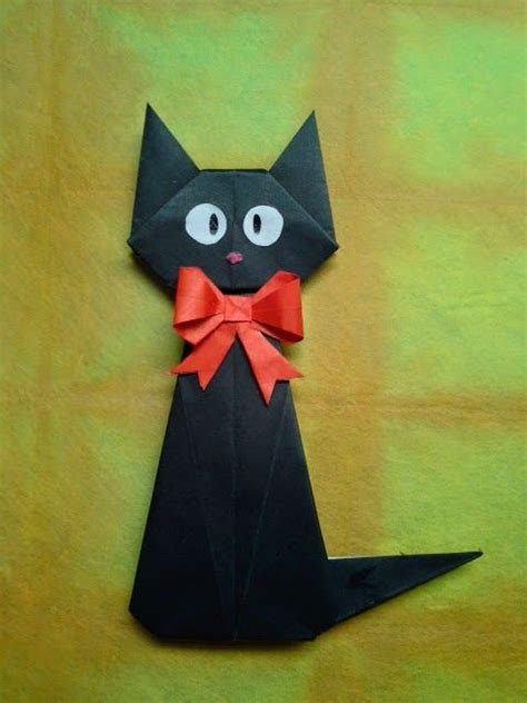Easy Cat Origami - best 25 origami cat ideas on