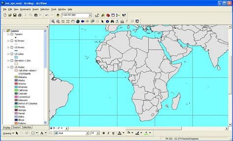 africa map zoom intro to arcgis