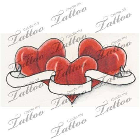 heart tattoo designs with banner tattoos and designs page 126