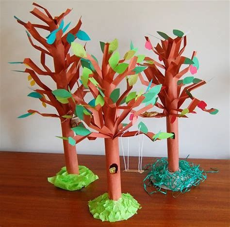 Paper Bag Tree Craft - unique tree craft paper trees craft and crafty