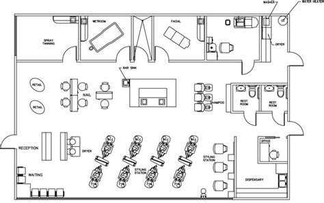 salon layout drawing beauty salon floor plan design layout 2385 square foot