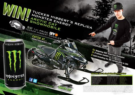 Monster Energy Sweepstakes - enter tucker s monster energy arctic cat sweepstakes tucker hibbert