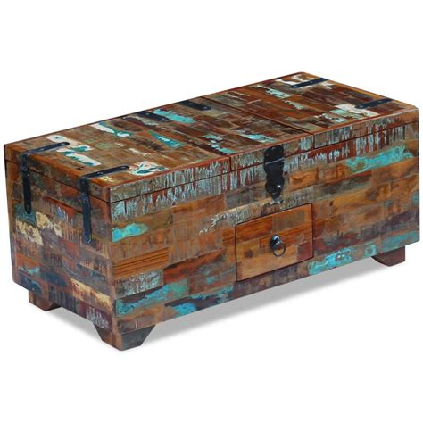 Coffee Table Box Vidaxl Coffee Table Box Chest Solid Reclaimed Wood 80x40x35 Cm Vidaxl Co Uk