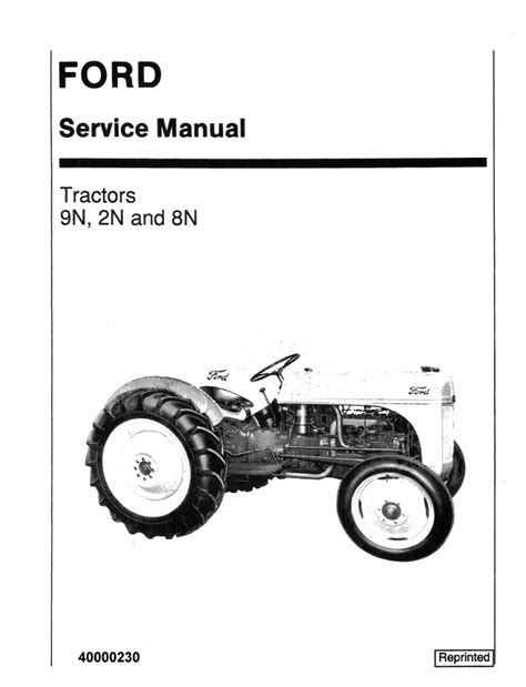 New Holland Ford 9N,2N and 8N Tractors Service Repair
