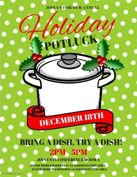 Potluck Flyer Template by Potluck Flyers Related Keywords Potluck Flyers