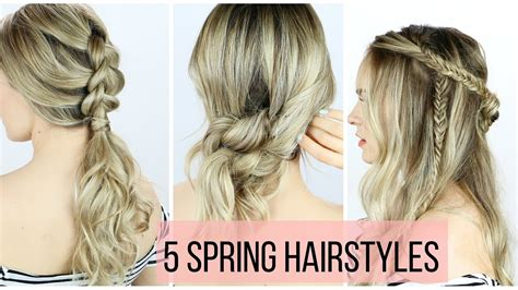easy hairstyles video download 5 hairstyles for spring youtube