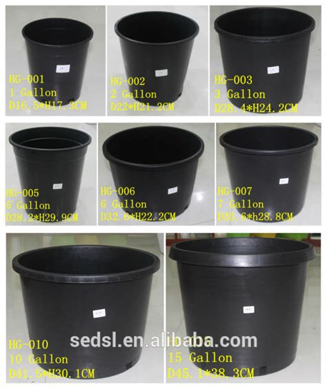 10 Gallon Ceramic Pot - 5 gallon plastic pots bulk flower pots plant pots