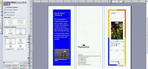 create  brochure  microsoft publisher