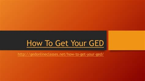 how to get how to get your ged