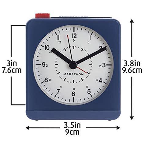 marathon analog desk alarm clock marathon cl030053bl analog desk alarm clock with auto