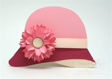 card hats templates cloche hat card template at site stin up sting t