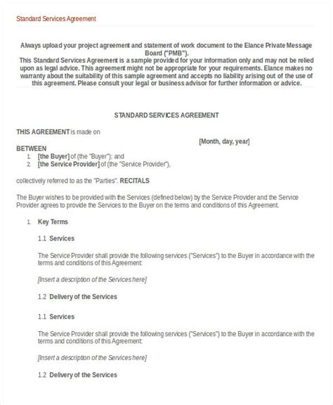services agreement template service agreement template 10 free word pdf documents