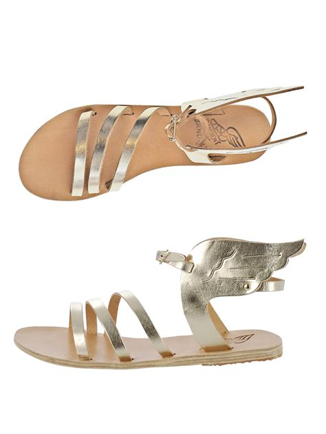 ancient sandals ikaria ancient sandals ikaria wing sandals in gold lyst