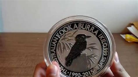 2015 kookaburra 1 kilo silver coin   YouTube
