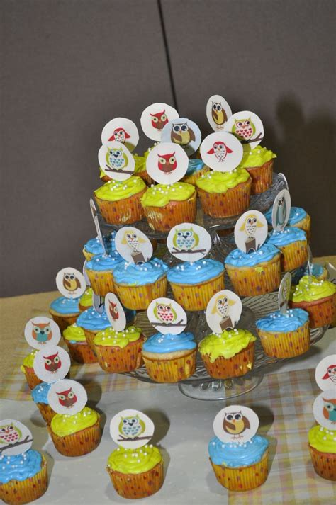 owl baby shower cupcakes living room decorating ideas baby shower owl cupcakes