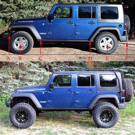 stock jeep vs lifted jeep lifted vs stock page 2 jk forum com the top