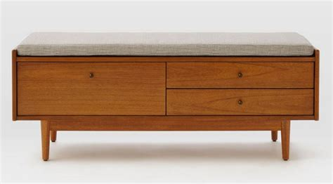 west elm storage bench mid century entryway bench by west elm retro to go