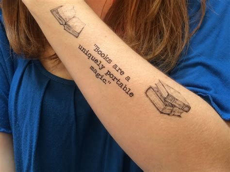 book lover tattoos 50 attractive literary tattoos for book