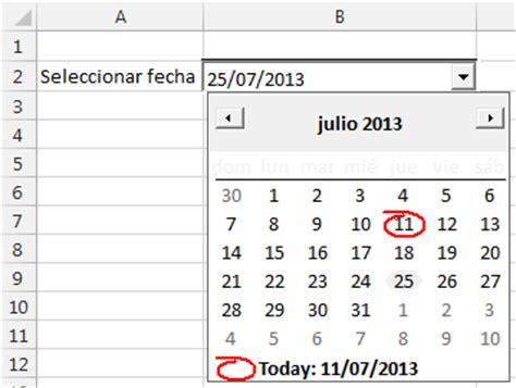 Mostrar Calendario Mostrar De Calendario Al Elegir Una Celda En Excel